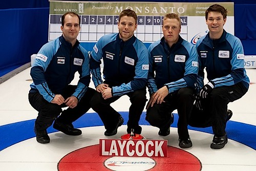Team Laycock — Nutana Curling Club, SaskatoonSteve Laycock, Kirk Muyres, Colton Flasch, Dallan Muyres, Lyle Muyres (coach) | by seasonofchampions