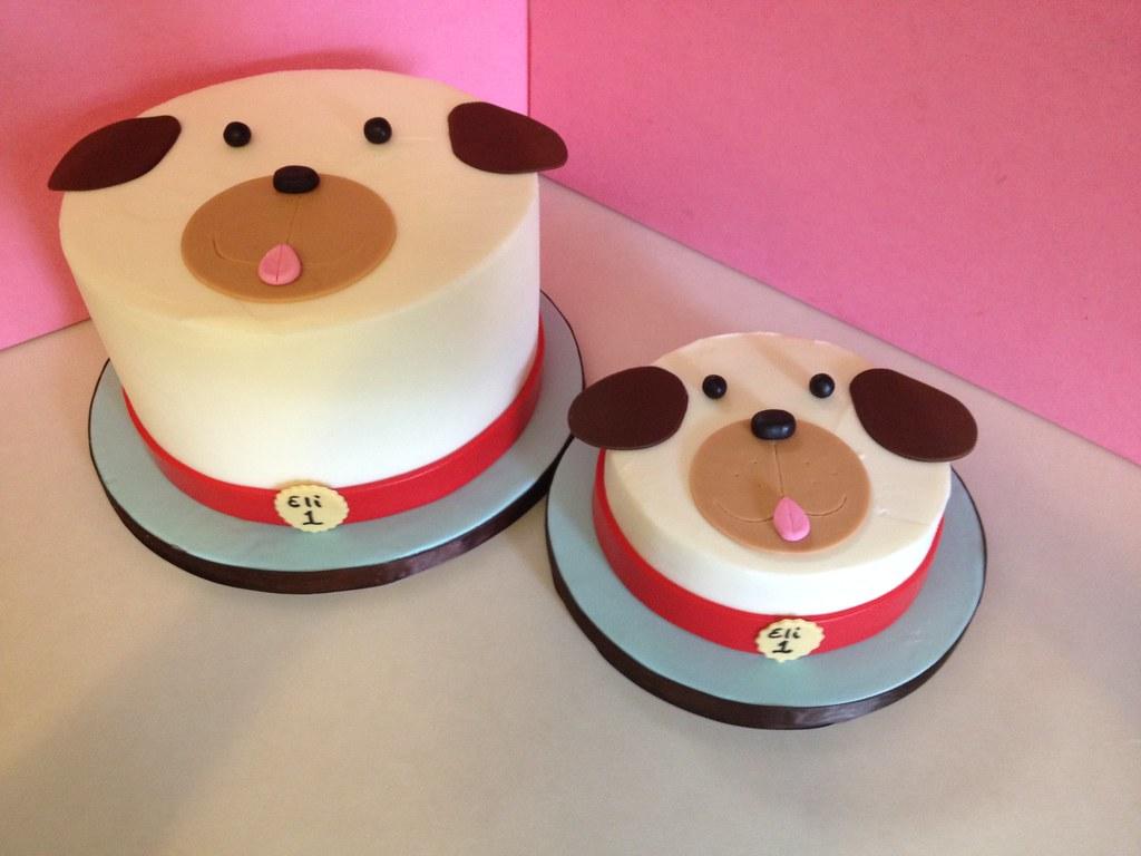 Puppy Dog 1st Birthday Cake With Matching Smash Cake Flickr
