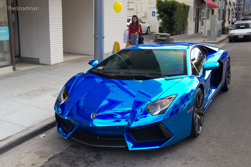 chrome blue lamborghini aventador see this aventador drivi flickr. Black Bedroom Furniture Sets. Home Design Ideas