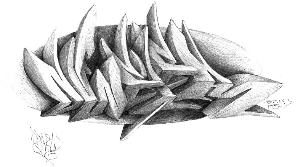 Dwel pencil sketch 1 by graffiti for you