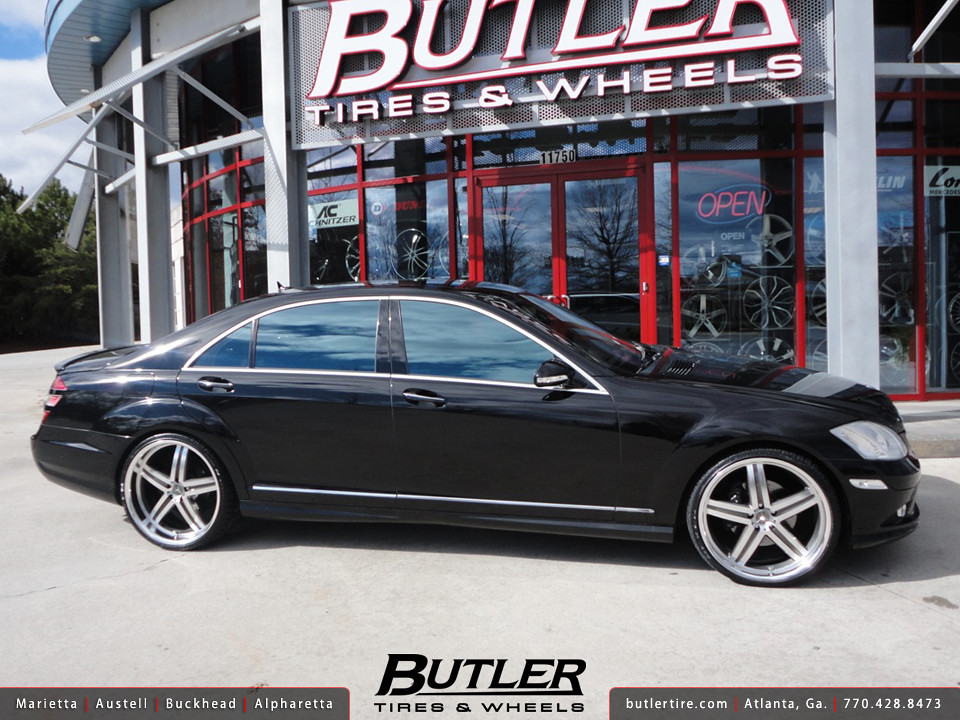 mercedes s550 with 22in mandrus mannheim wheels additional flickr. Black Bedroom Furniture Sets. Home Design Ideas