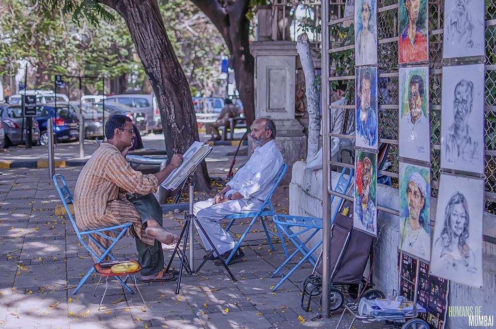 as seen outside jehangir art gallery