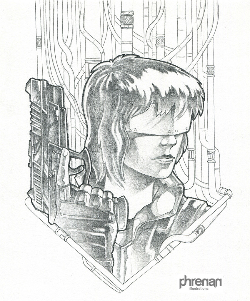 Ghost In The Shell Pencils