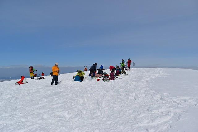 冬の守門岳 大岳山頂