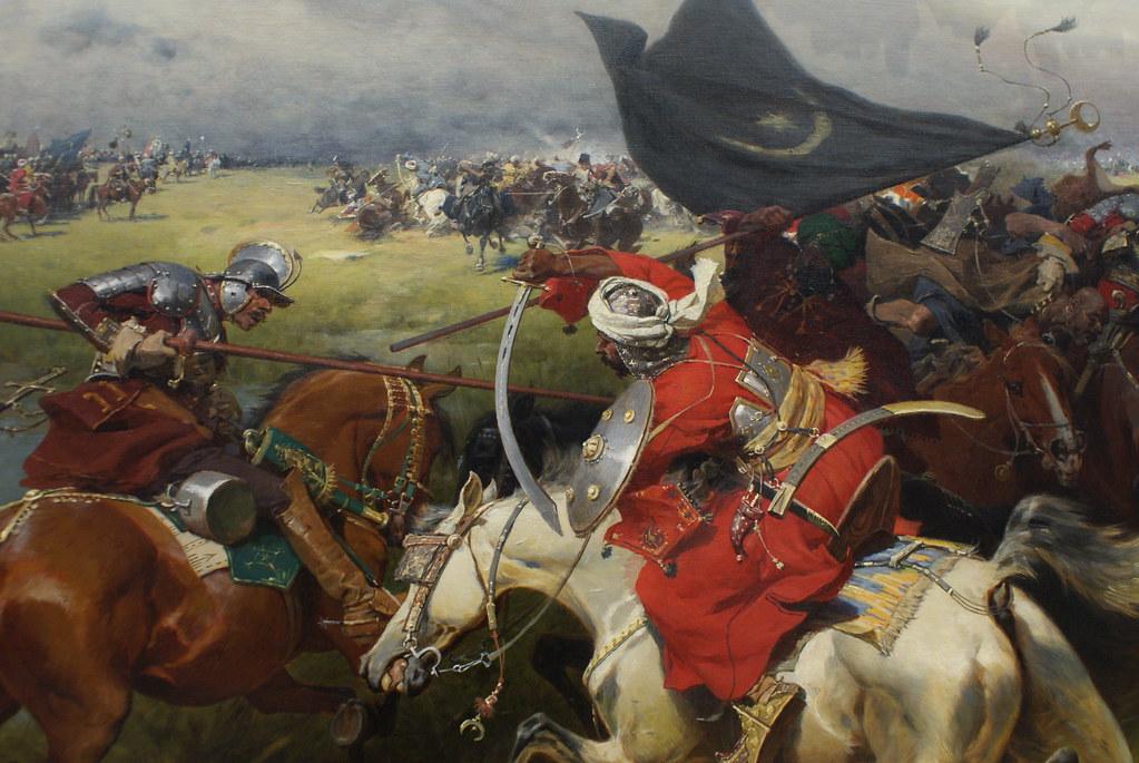 """Brandt """"Walka o sztandar turecki"""" (1905) : La lutte pour le drapeau turc. La Pologne fût l'un des adversaire les plus coriaces de l'Empire Ottoman au 17e siècle."""