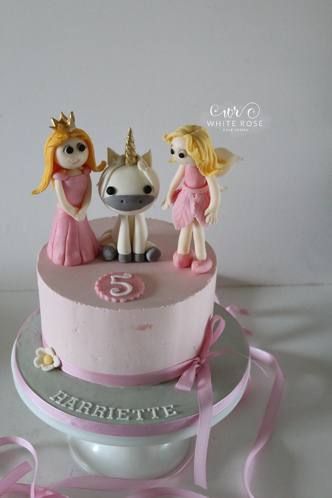 Fairy Princess And Unicorn 5th Birthday Cake