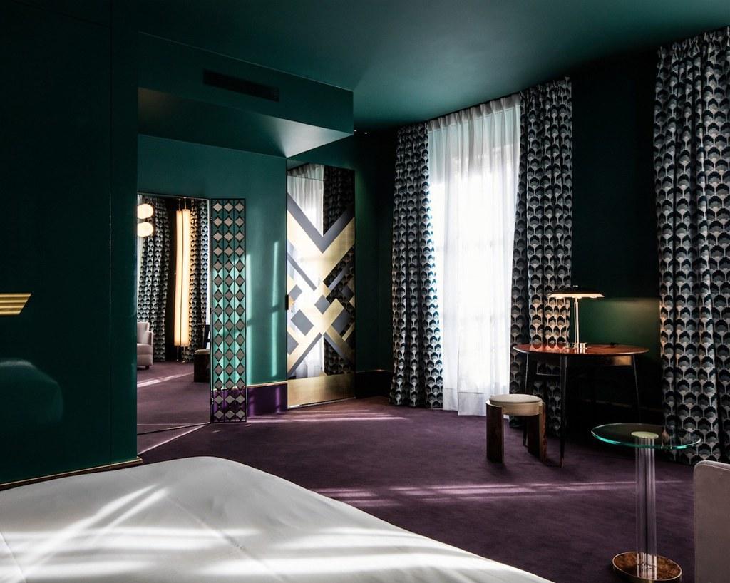 Elegant hotel Saint-Marc in Paris by the Milan design agency DIMORESTUDIO Sundeno_14