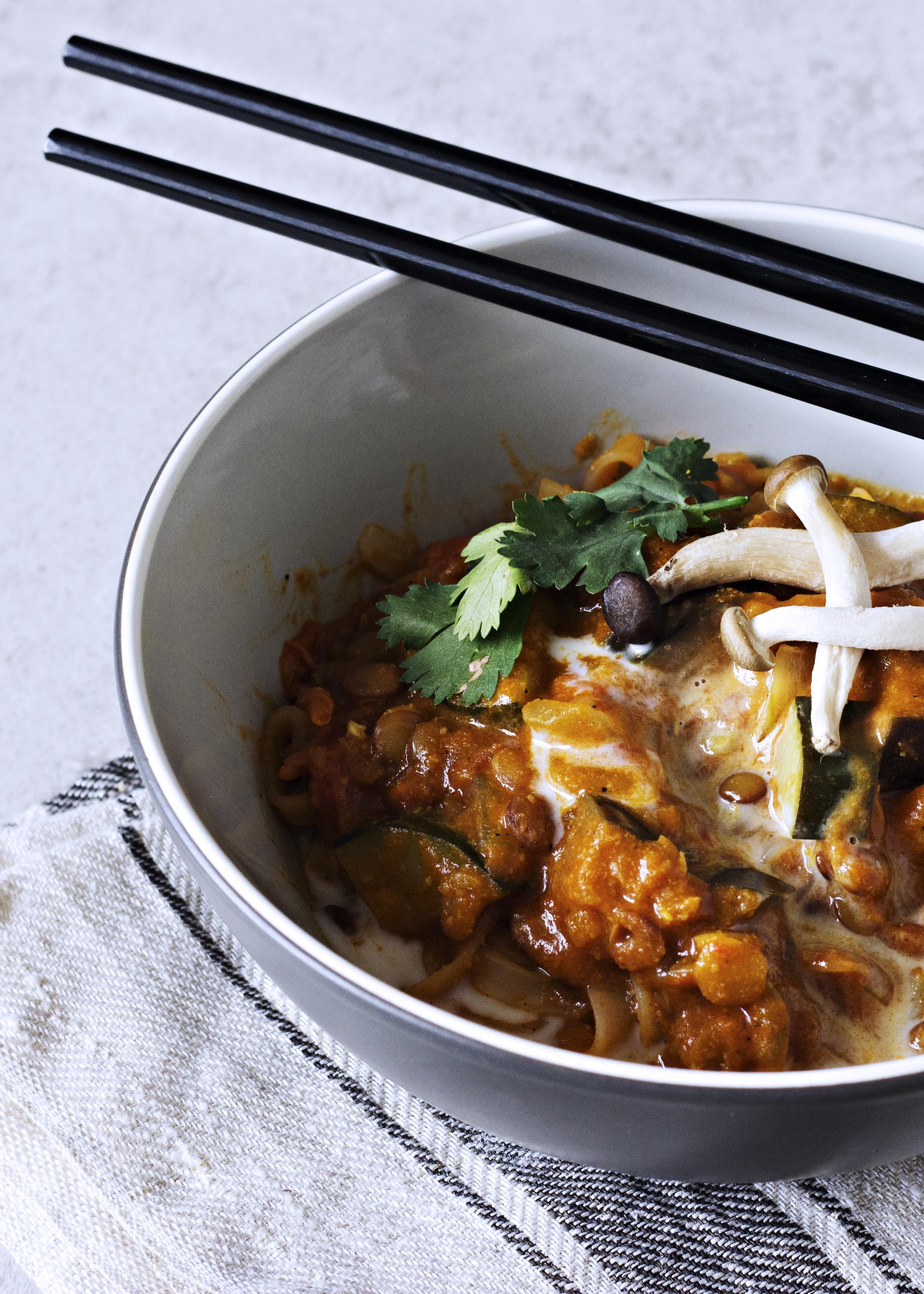 Caril com Noodles para Preguiçosos / Curry Noodles for Lazy People