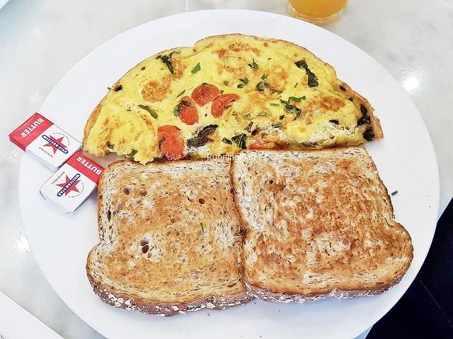 Egg Omelette Mushroom Ham Cheese
