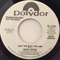 ISAAC HAYES:JUST THE WAY YOU ARE(LABEL SIDE-B)