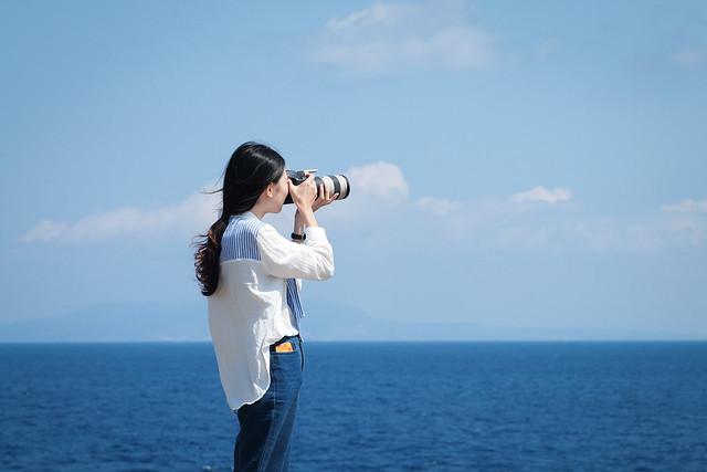 原來是在拍婚紗 | 沖繩殘波岬公園