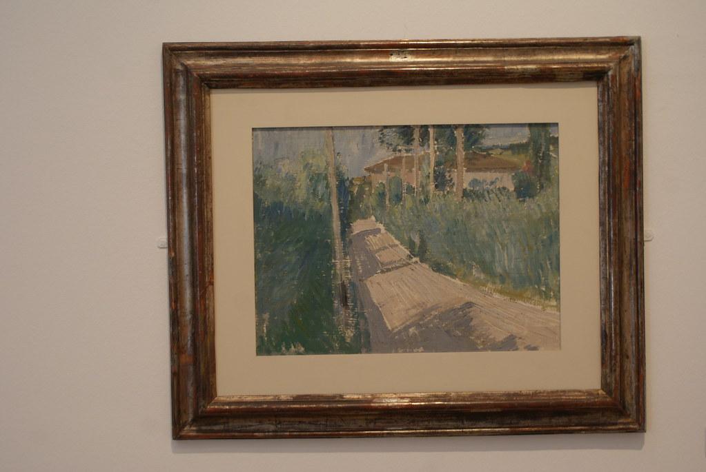 Première oeuvre de Morandini : Entre impressionnisme et cubisme.