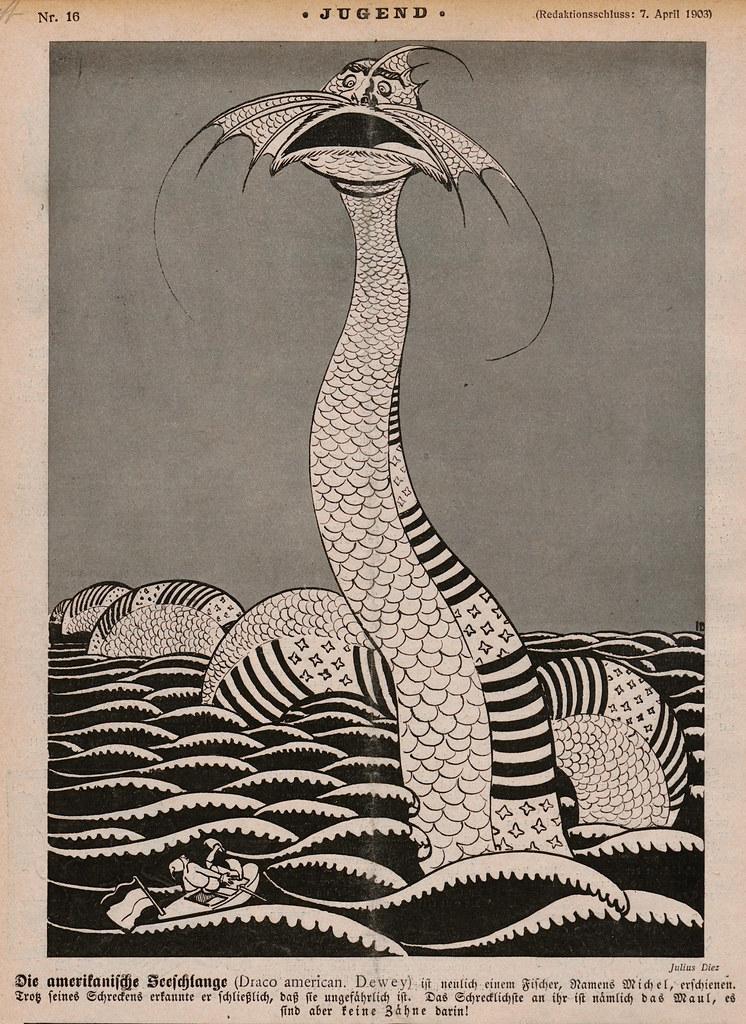 Julius Diez - The American Sea Serpent, 1903