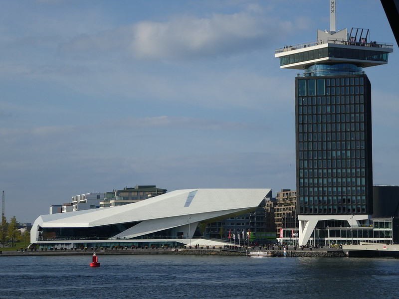 Amsterdam EYE Film Institute Netherlands and A'DAM Tower
