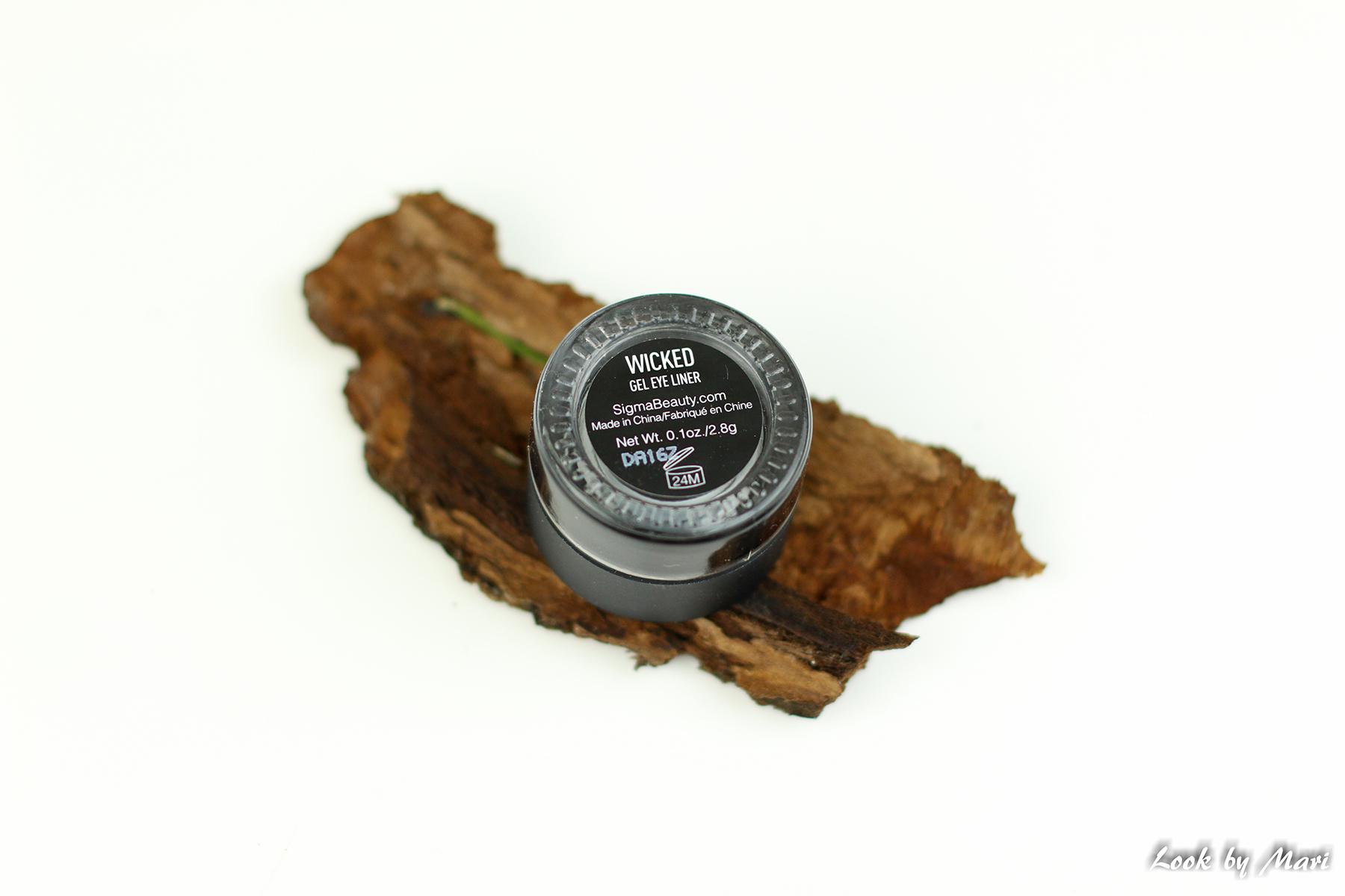 4 sigma beauty gel eye liner wicked black kokemuksia geelirajaus musta