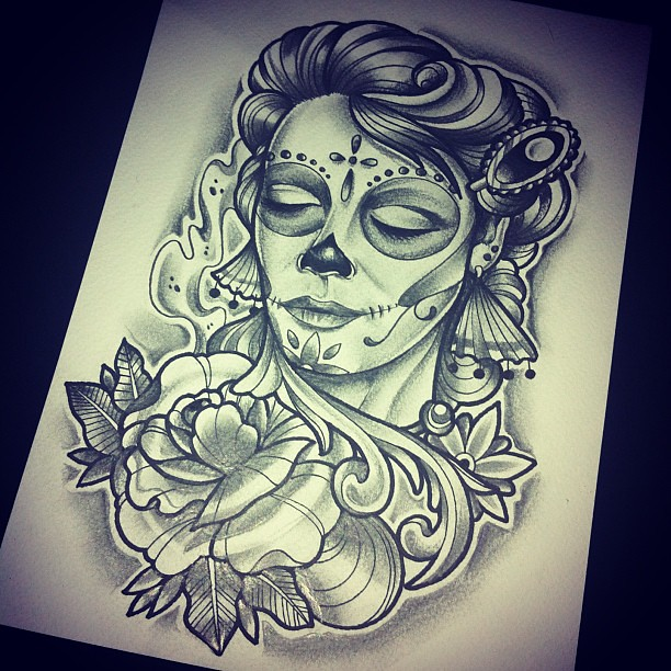 Dise os de catrinas tattoo imagui - Tattoo disenos a color ...