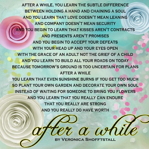 After A While by Veronica A. Shoffstall - Sofine's ...