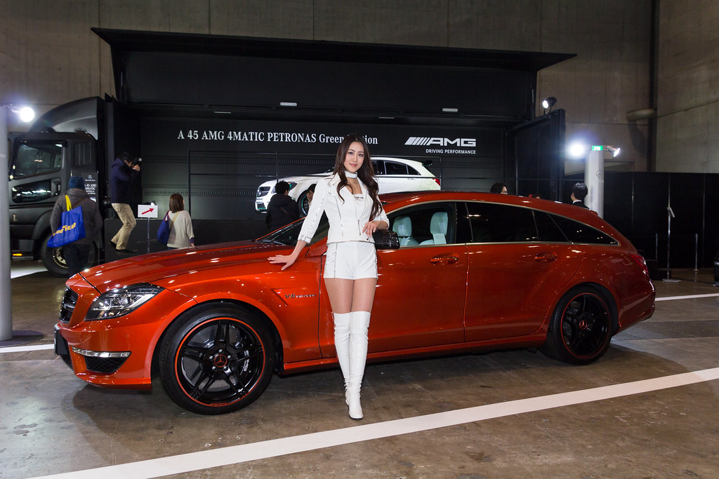 mercedes benz amg smart  tokyo auto salon 2014 show girl flickr