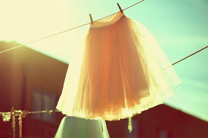 falda tul tendedero