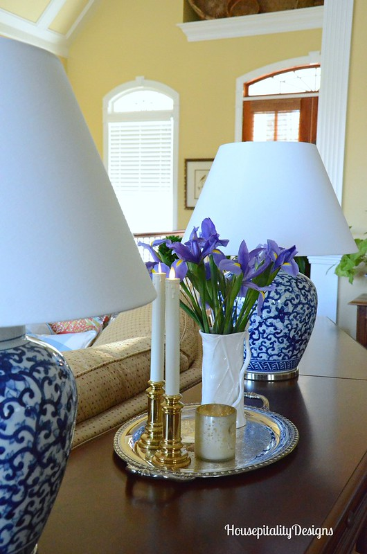 Ralph Lauren Blue and White lamps-Irises-Housepitality Designs