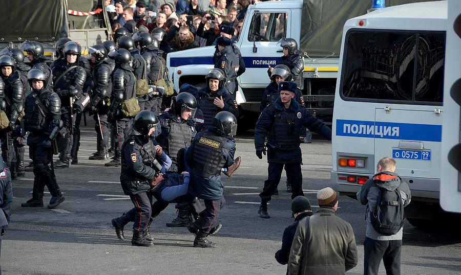 Арест митингующих на Он нам не Димон