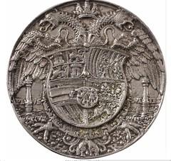 1537 Silver Medal of Karl V reverse