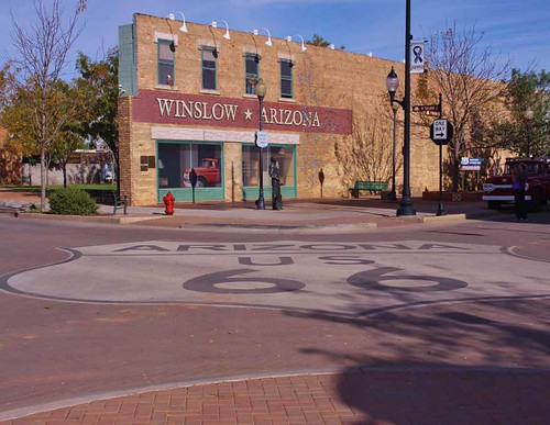 The Standin' on the Corner Park in Winslow exemplifies the way communities can link popular culture with the allure of Route 66 with dramatic results From Route 66: America's Longest Small Town