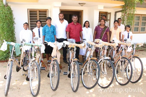 Bicycles donated by Fisheries Minister