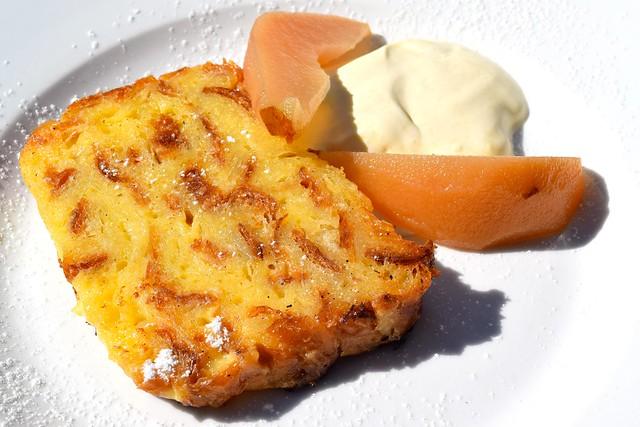 Croissant Bread Pudding at Beagle, Hoxton | www.rachelphipps.com @rachelphipps