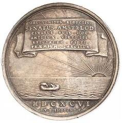 1696 Netherlands Neptune Sea Chariot Medal reverse