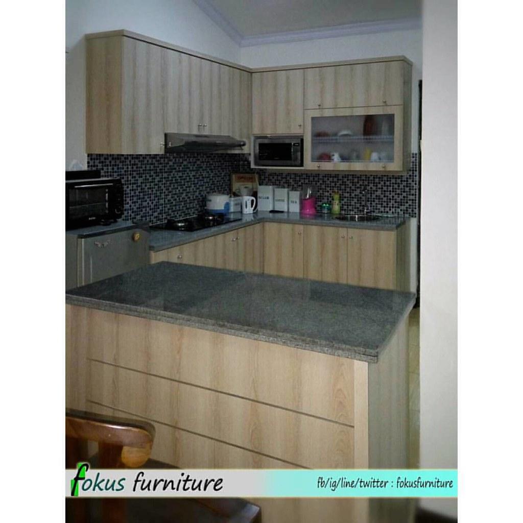 Kitchen Set Minimalis Letter L Dan Meja Bar Di Permata Pur Flickr