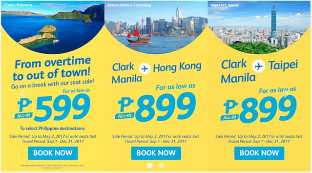 Cebu Pacific Air Promo Go on Break Php599 One-way