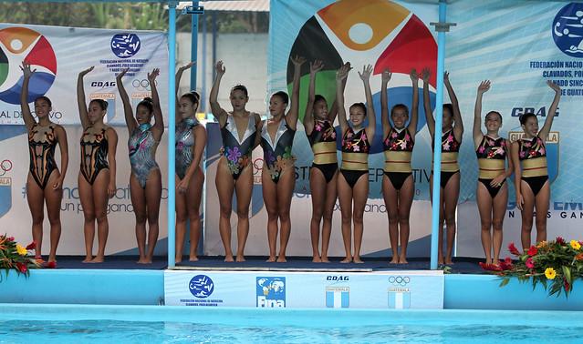 Día final Festival Deportivo, nado sincronizado