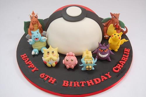 Fabulous Pokemon Ball With Characters Cake Beautiful Birthday Cakes Funny Birthday Cards Online Hetedamsfinfo