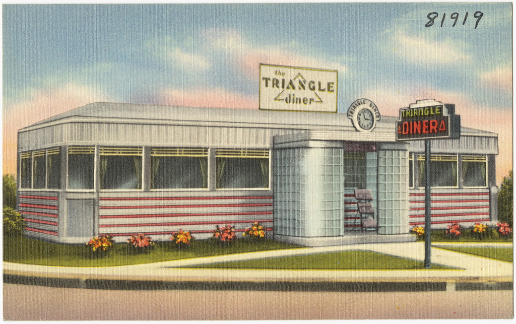 The Triangle Diner  File name: 06_10_021891 Title: The Tria…  Flickr