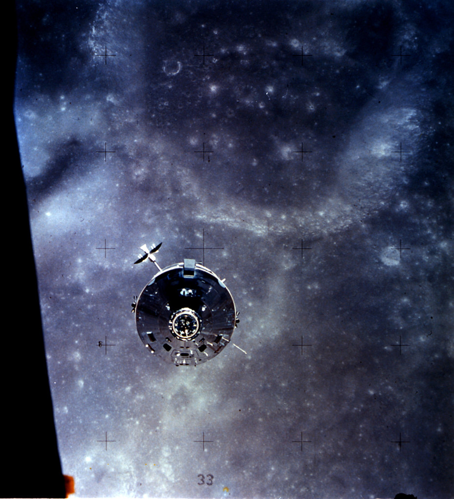 Apollo 16 Command And Service Module Over The Moon Flickr