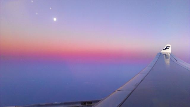 ala de avión de finnair