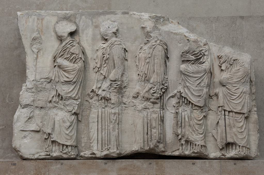 The Parthenon – XX East Frieze | The Block VIII shows five ...