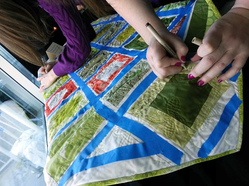 Signing Lauren's Wedding Signature Quilt | by DanaK~WaterPenny