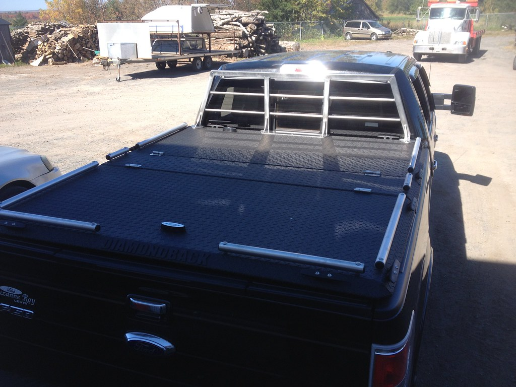 F 150 With Heavy Duty Truck Bed Cover Amp Custom Headache Ra
