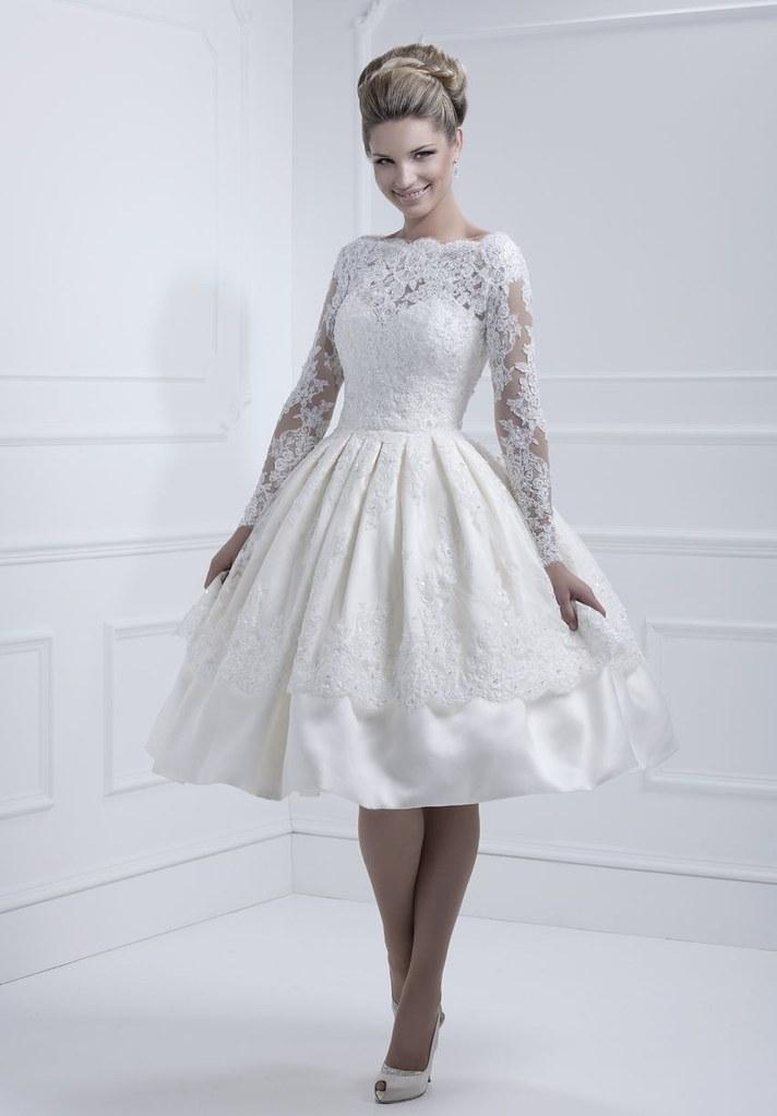 taffeta-and-lace-bateau-ball-gown-tea-length-elegant-vinta…   Flickr