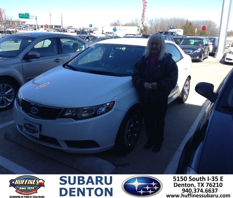 Thank You To Cathern Suttle On Your New 2013 Kia Forte F