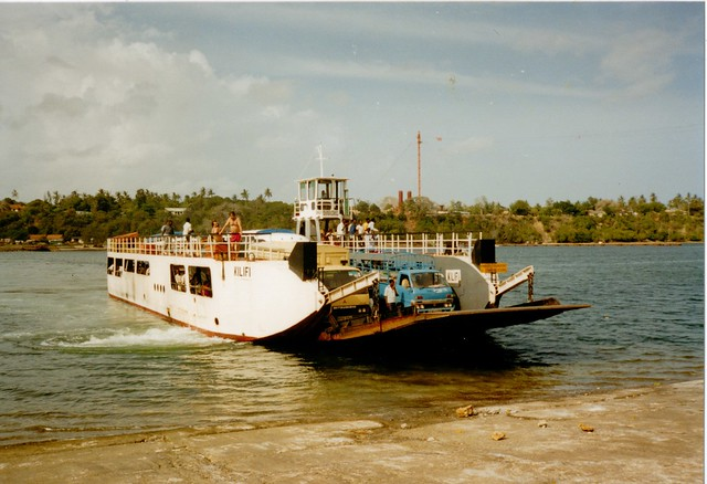 Kilifi Ferry Kenya 1988 | Our truck loading the Kilifi Fer ...