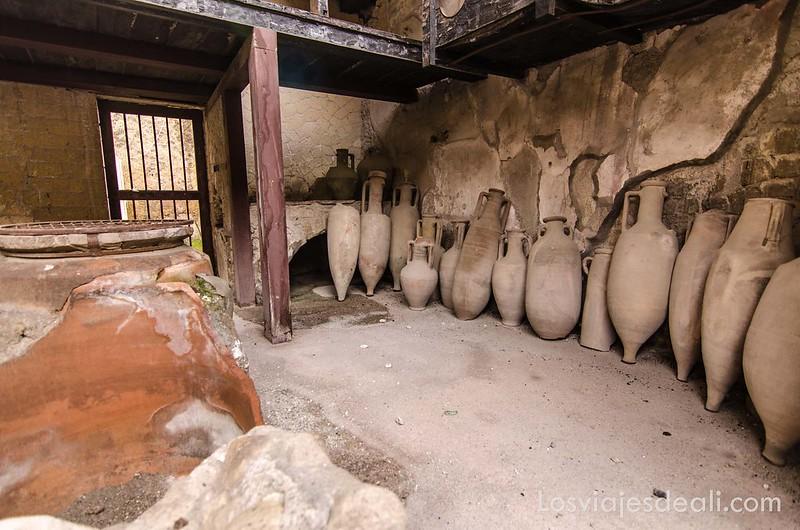 visita a Herculano almacén de vinos