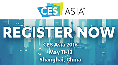 More than 30,000 attendees are expected to visit CES Asia 2016, which will take up 40,000 square metres of exhibition space at the Shanghai New International Expo Centre (SNIEC).