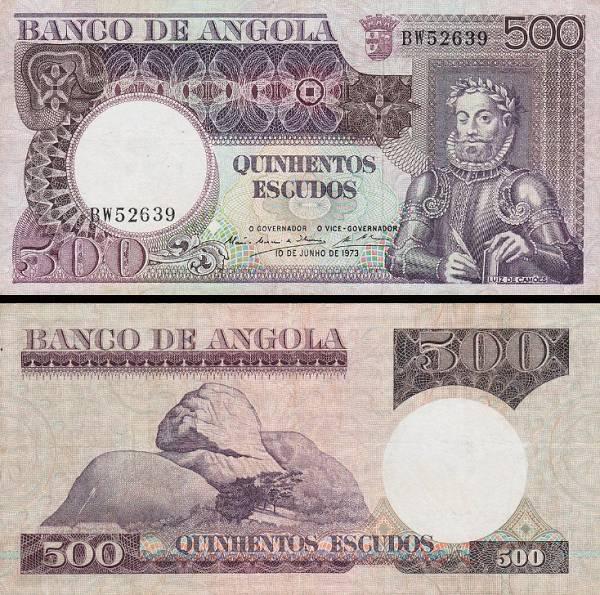 500 angolských escudos Angola 1973, P107