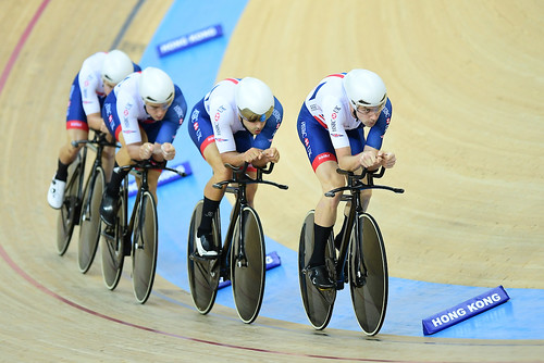 Great Britain Cycling Team at the 2017 UCI Track Cycling Championships - day one