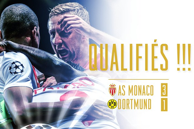 Champions League - Cuartos de Final (Vuelta): AS Monaco 3 - Borussia Dortmund 1 (6-3)