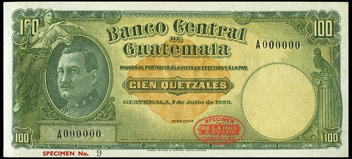 Banco Central de Guatemala banknote