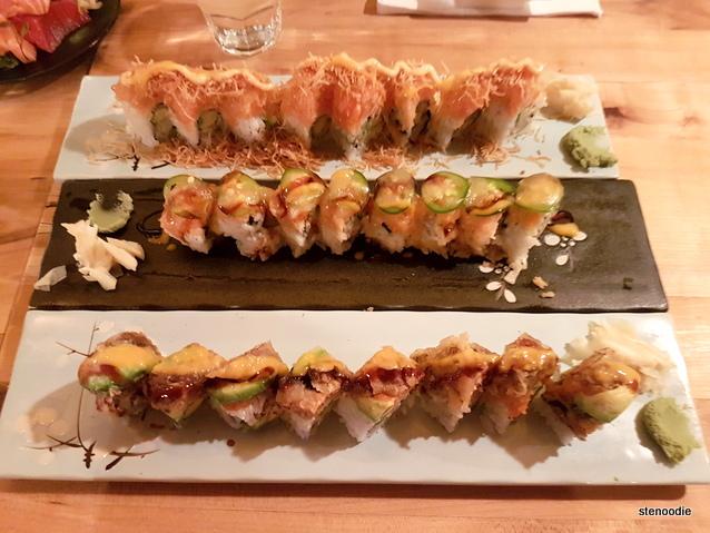 Saku Sushi rolls